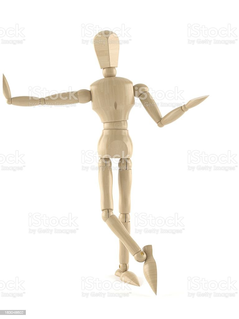 Wooden dummy stock photo