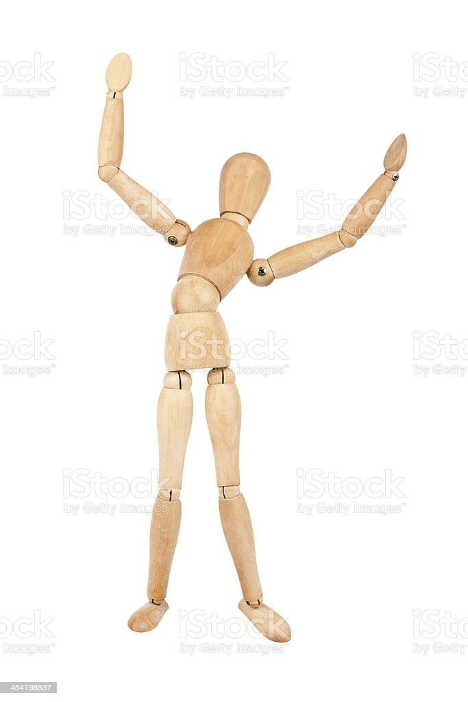 Wooden dummy royalty-free stock photo