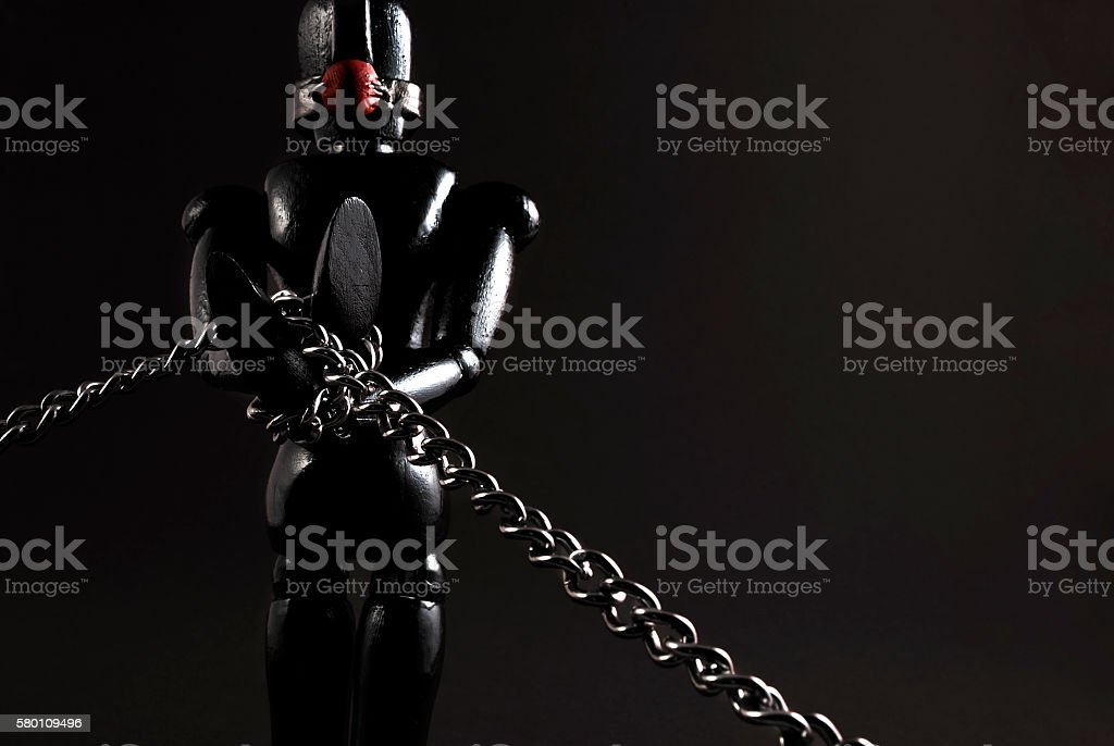 BDSM wooden dummy. stock photo