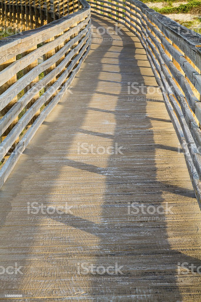 Wooden Dune Boardwalk stock photo