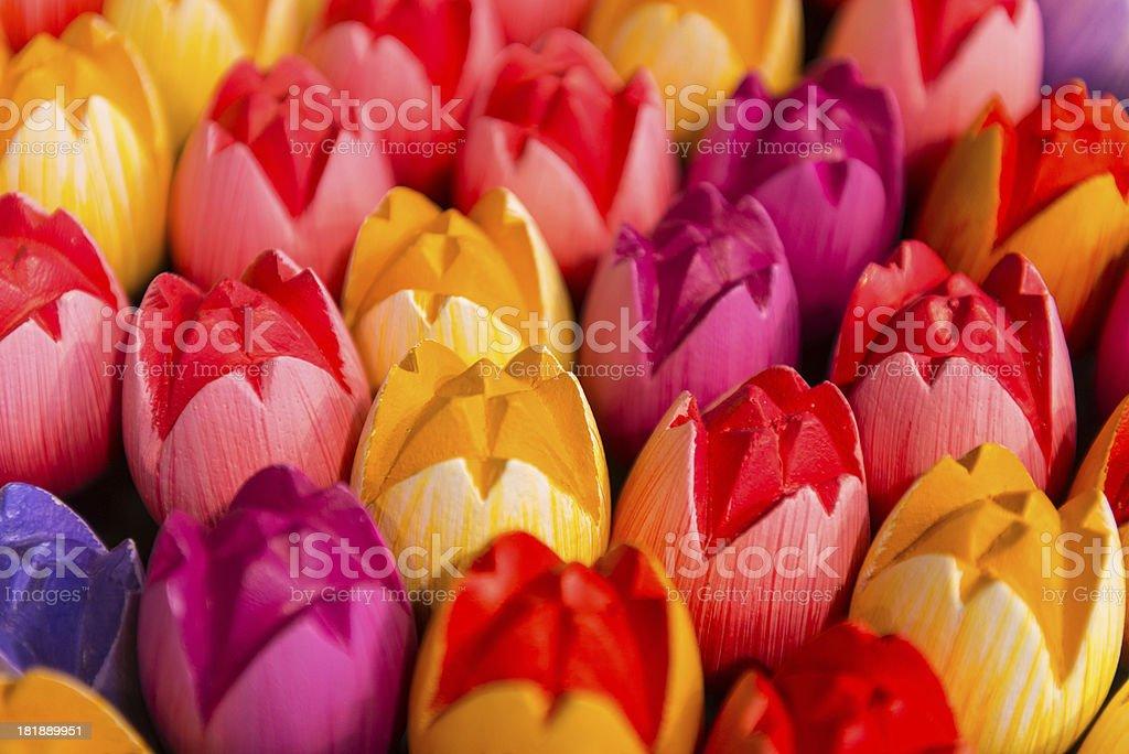 Wooden Dutch Tulips, Amsterdam royalty-free stock photo