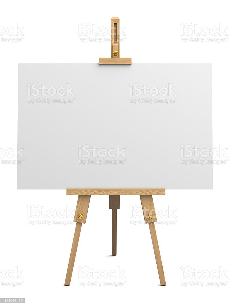 Wooden easel stock photo