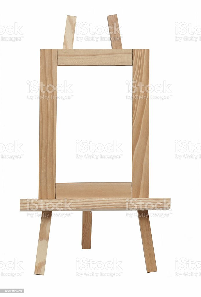 wooden easel royalty-free stock photo