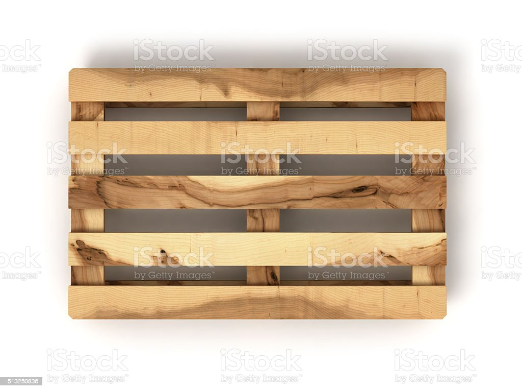 wooden Euro pallet balls isolated on white background stock photo