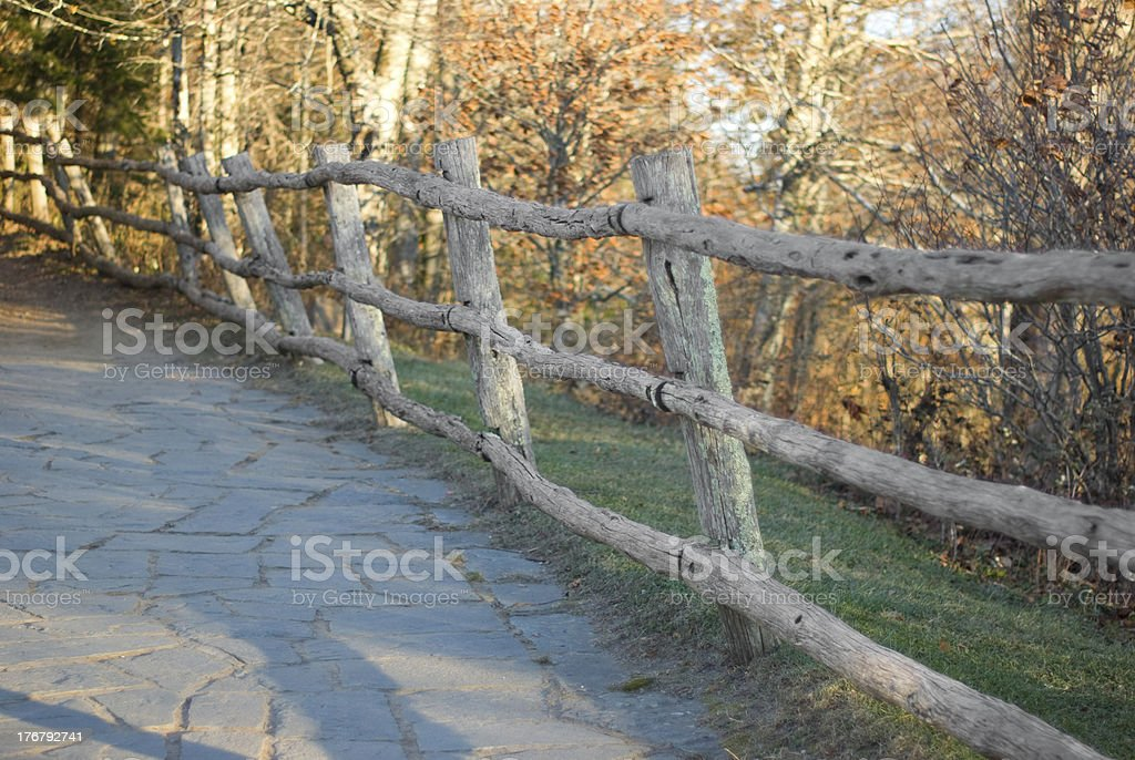 Wooden Fence in the Fall royalty-free stock photo