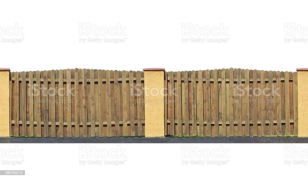 wooden fence isolated royalty-free stock photo