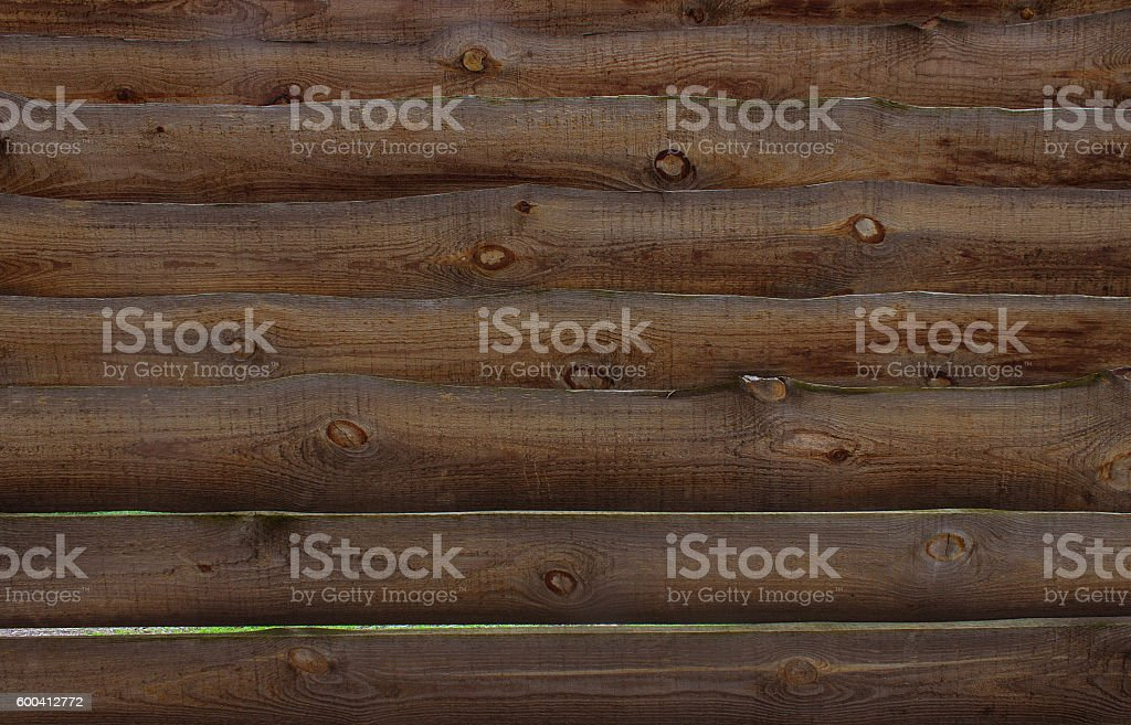 Wooden fence made of boards stock photo
