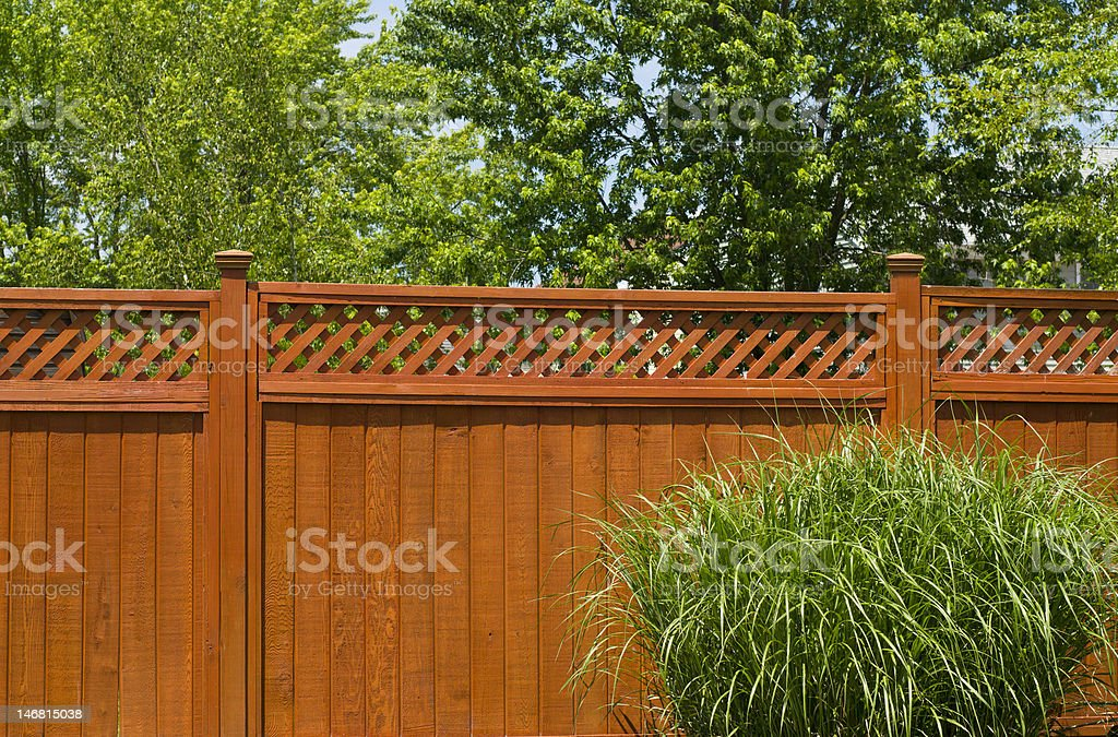 Wooden fence royalty-free stock photo