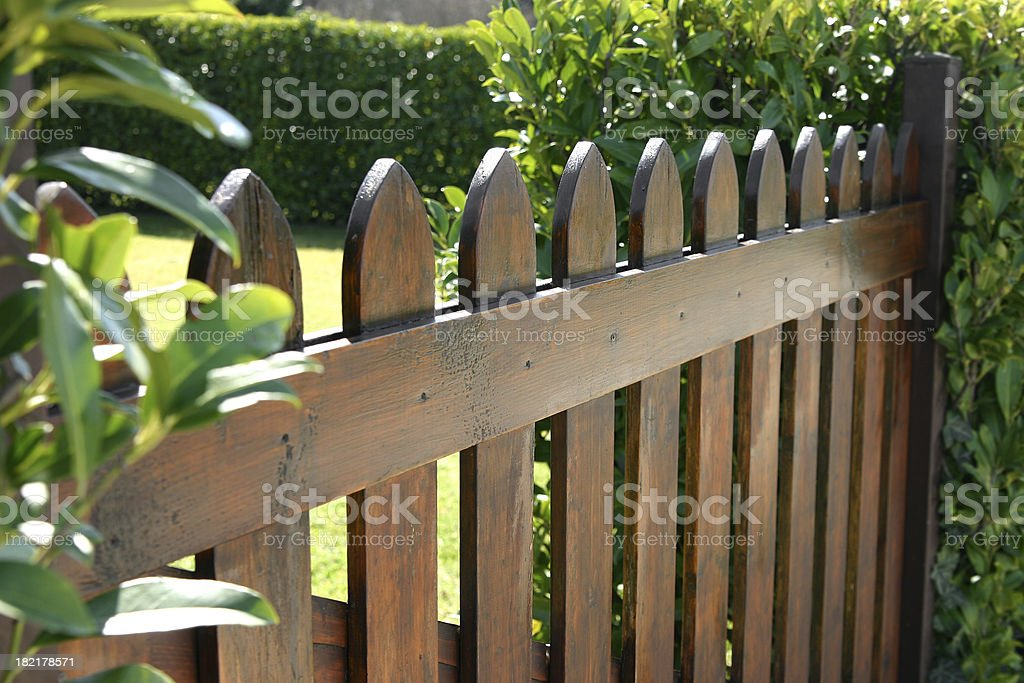 Wooden fence stock photo