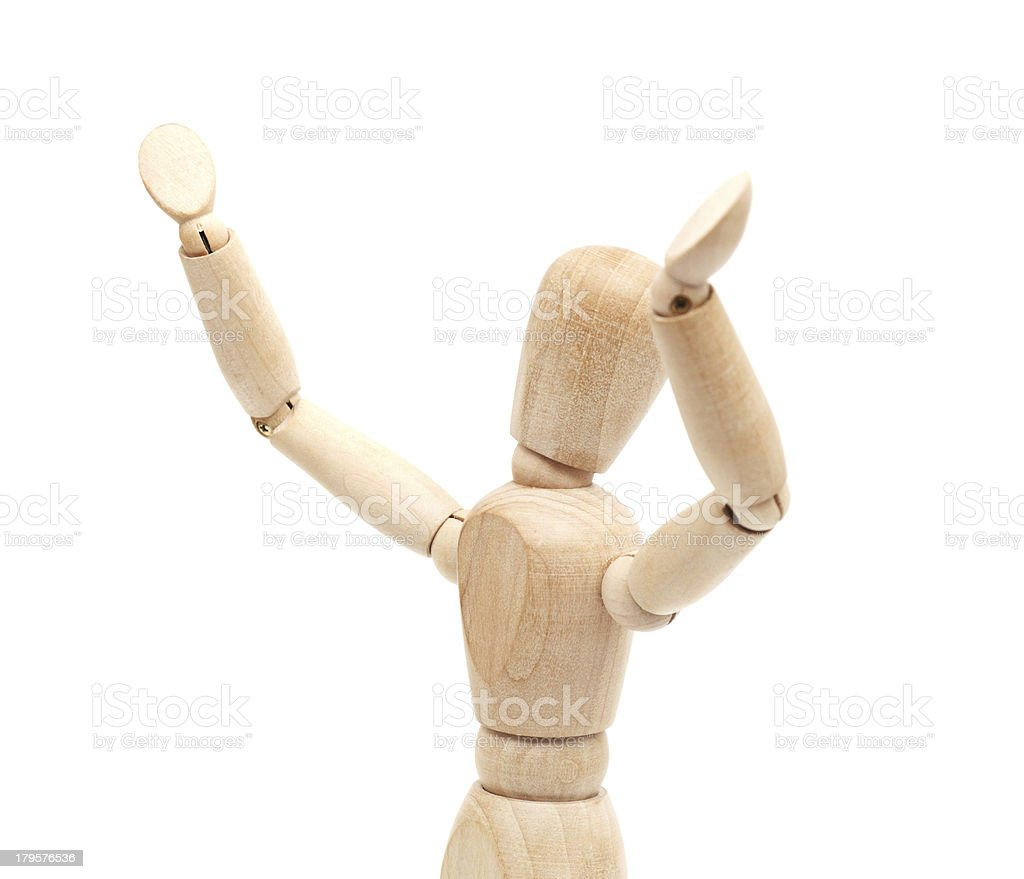 wooden figure concepts royalty-free stock photo
