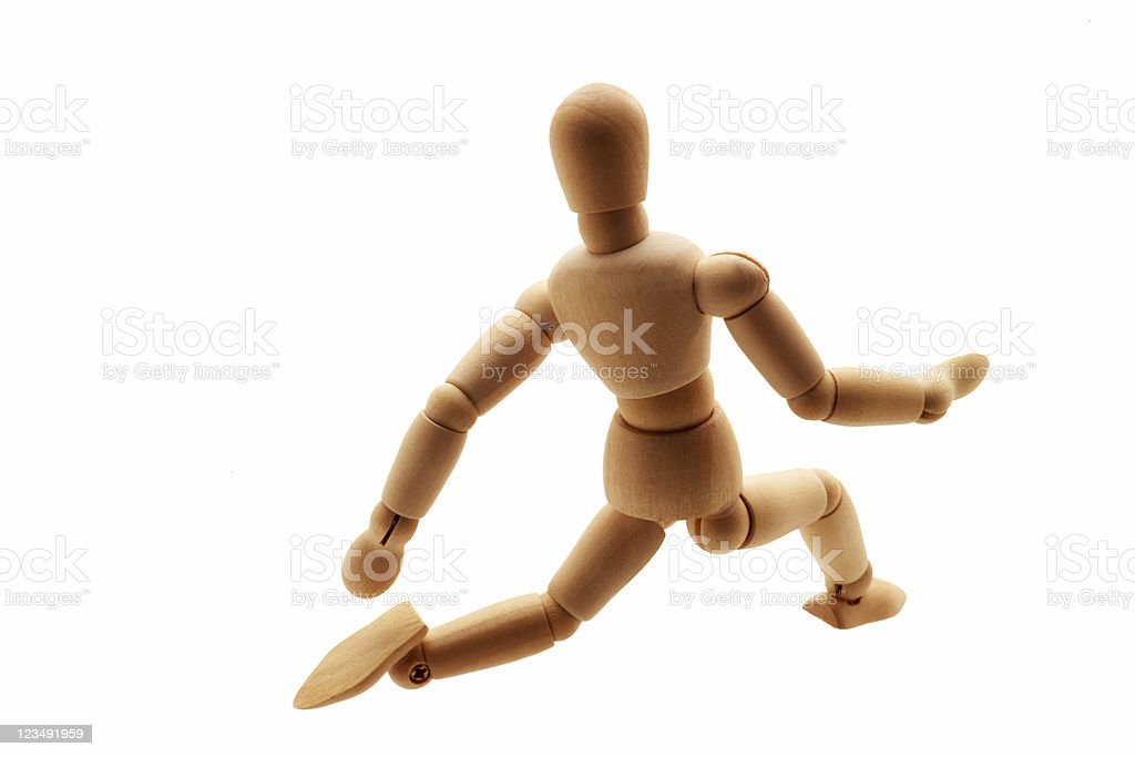 wooden figure drawing man royalty-free stock photo