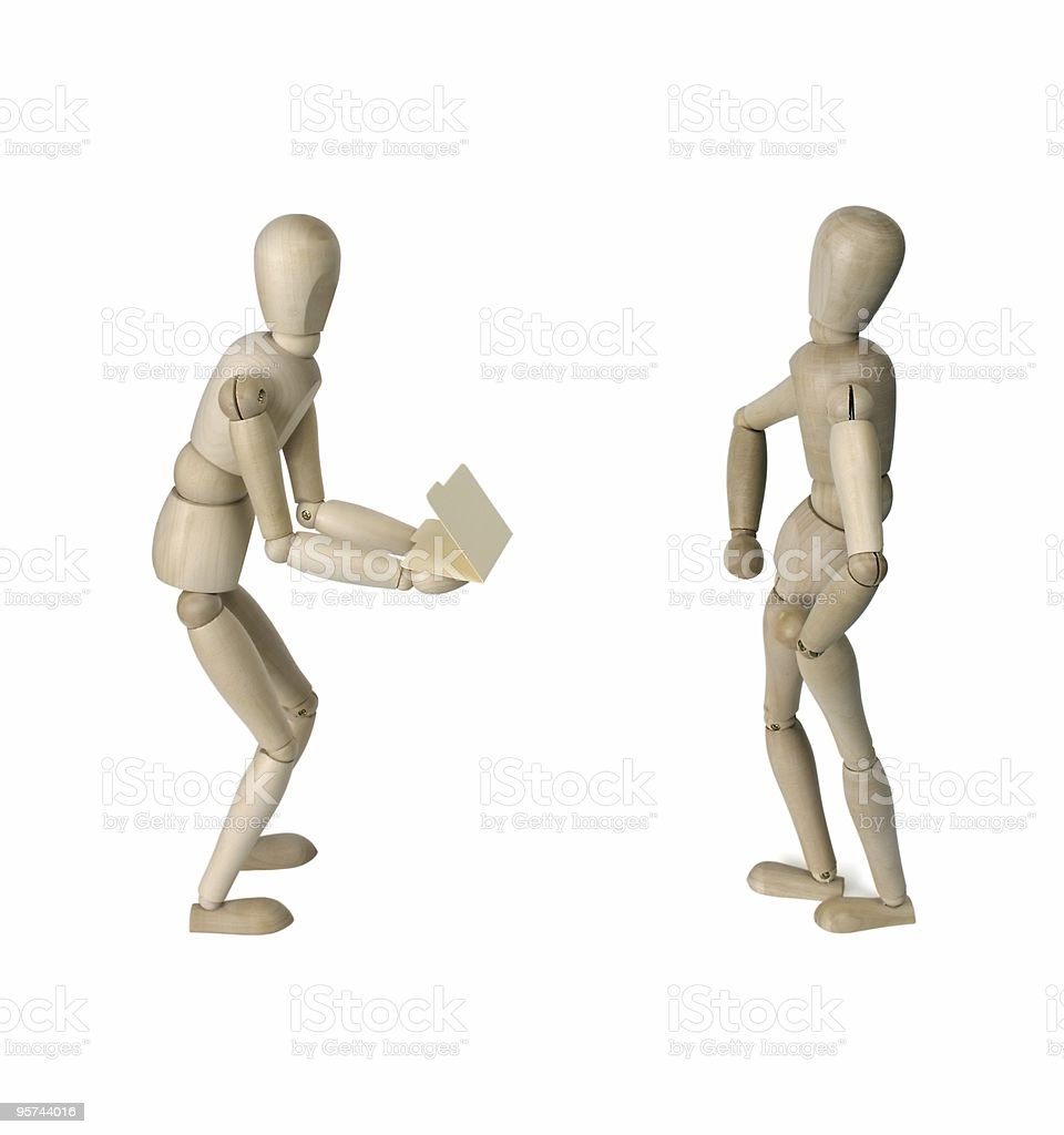 Wooden figurines royalty-free stock photo