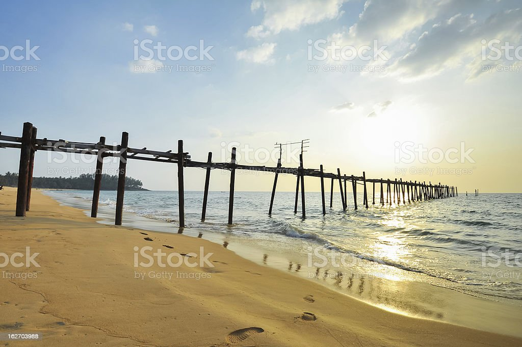 wooden fisherman bridge royalty-free stock photo