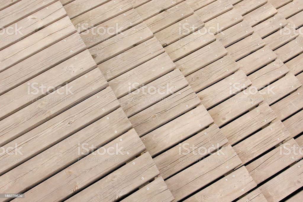 Wooden floor steps stock photo