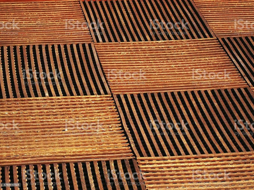 Wooden floor tiles stock photo