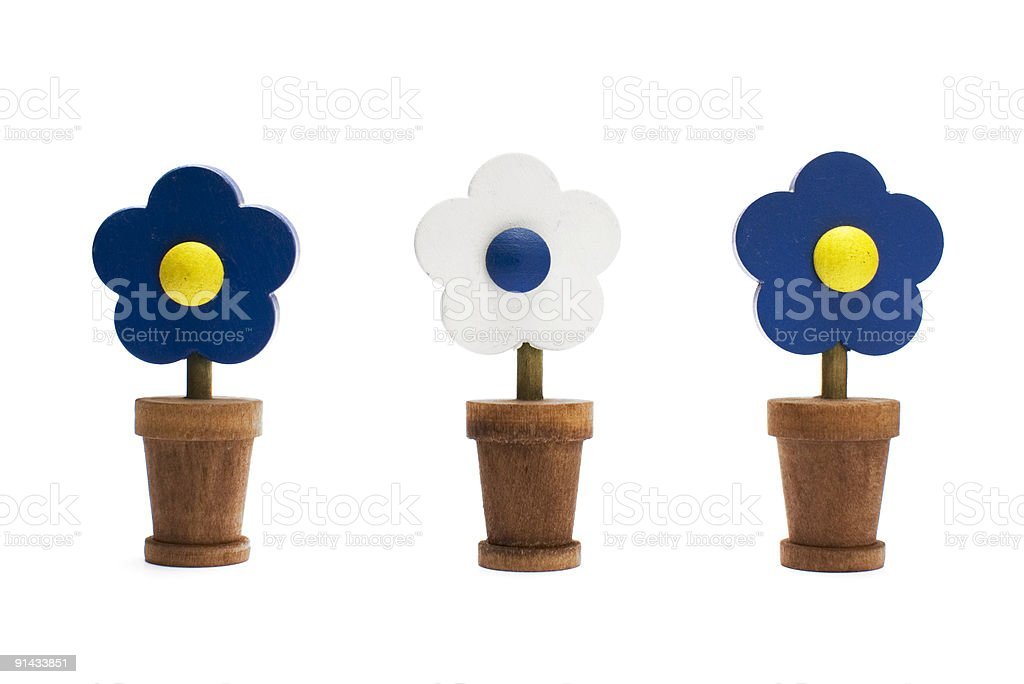 Wooden Flowers stock photo