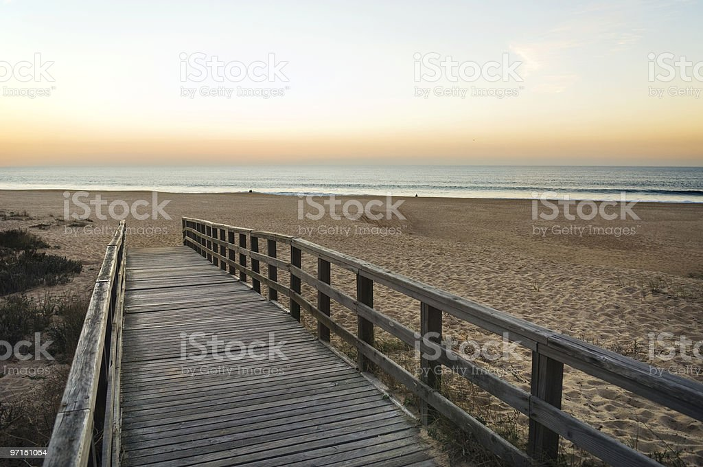 Wooden footbridge royalty-free stock photo