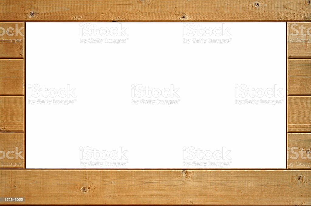 Wooden frame 3 royalty-free stock photo