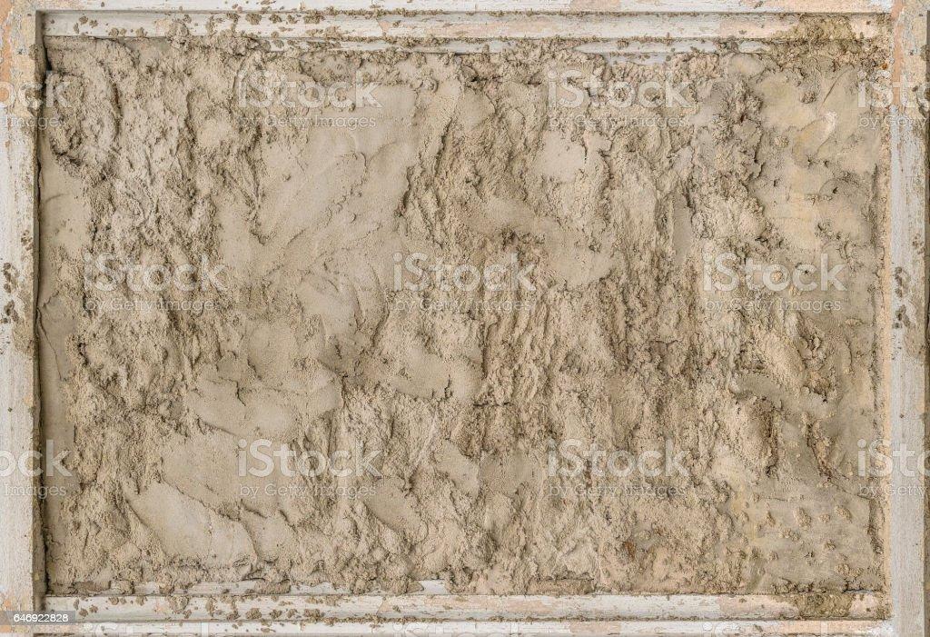 Wooden Frame Concrete Background stock photo