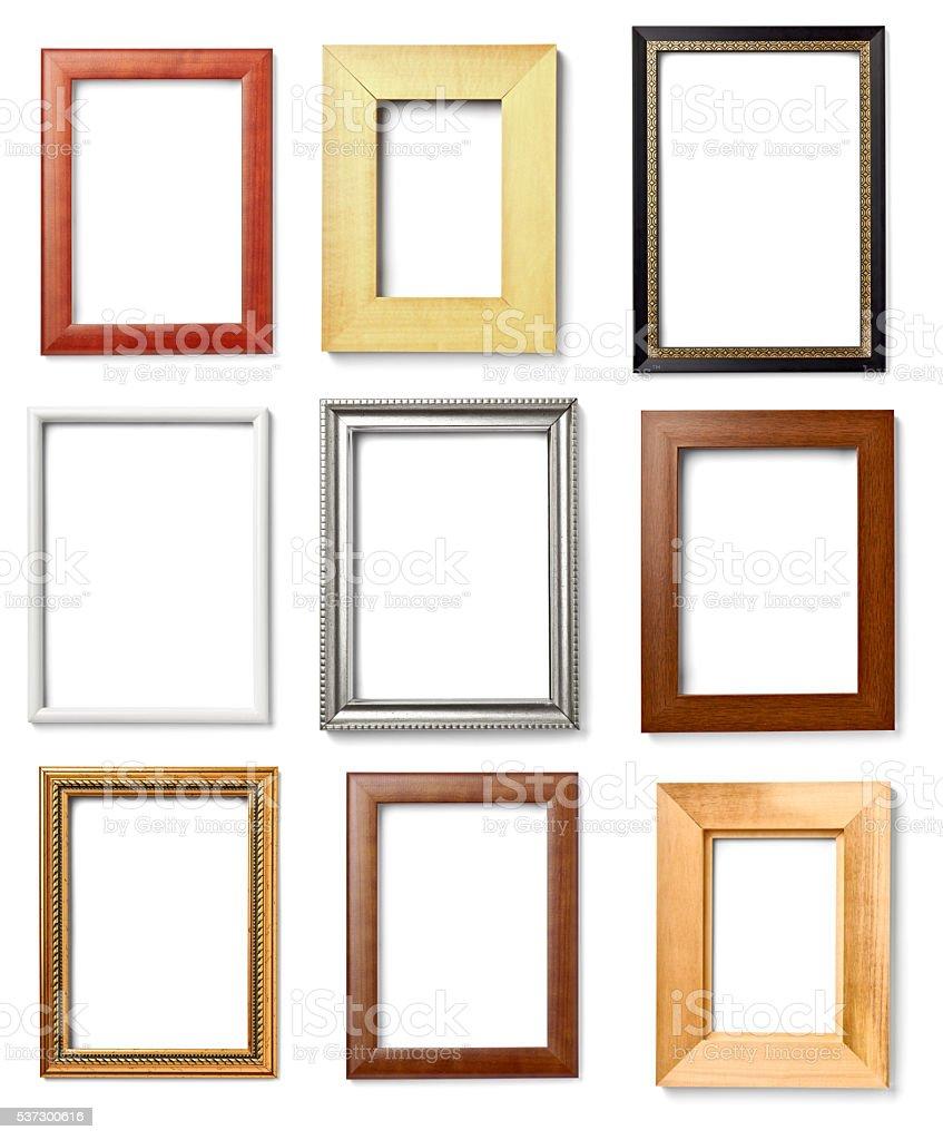 wooden frame grunge stock photo