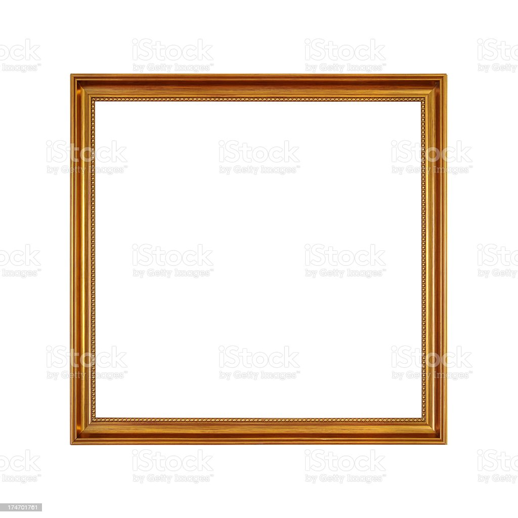 Wooden frame in dark gold color royalty-free stock photo