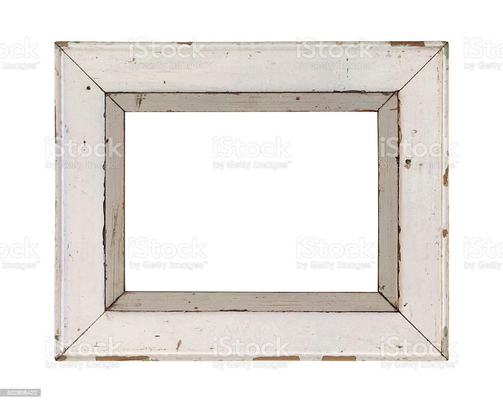 Wooden frame incl. clipping path stock photo