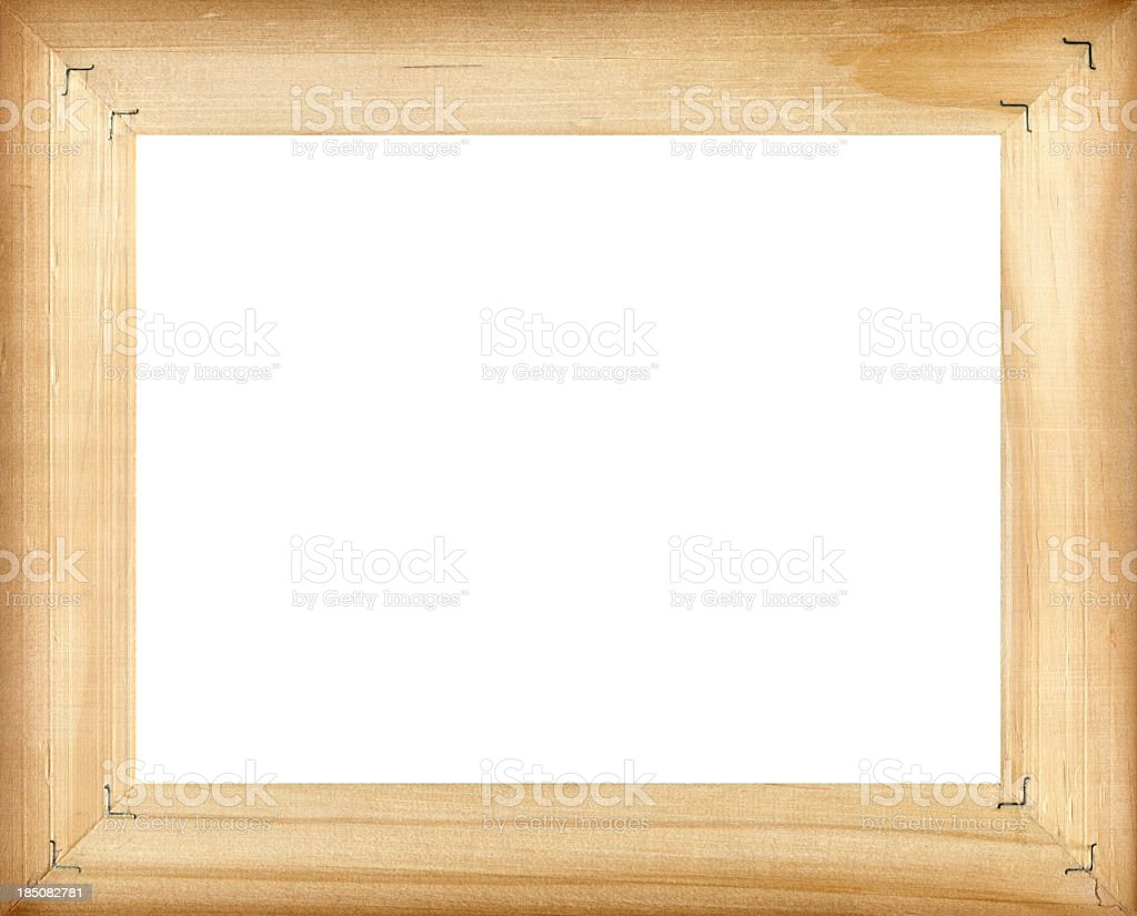 Wooden frame (Clipping path!) isolated on white background royalty-free stock photo