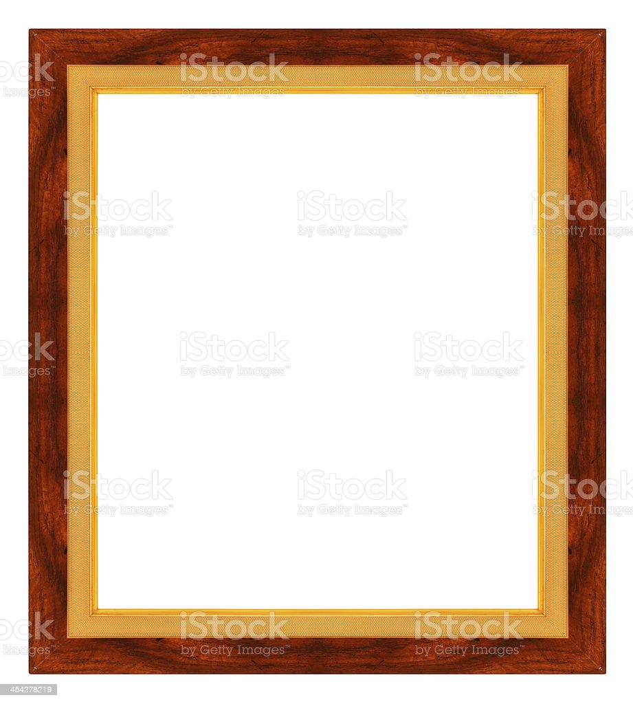 wooden frame isolated on white background royalty-free stock photo