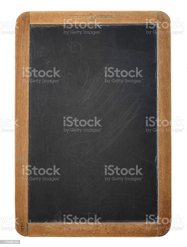 Wooden framed blackboard against white background royalty-free stock photo