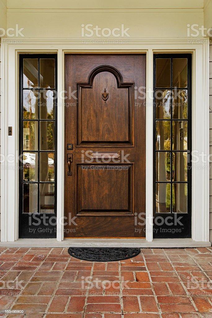 Wooden Front Door stock photo