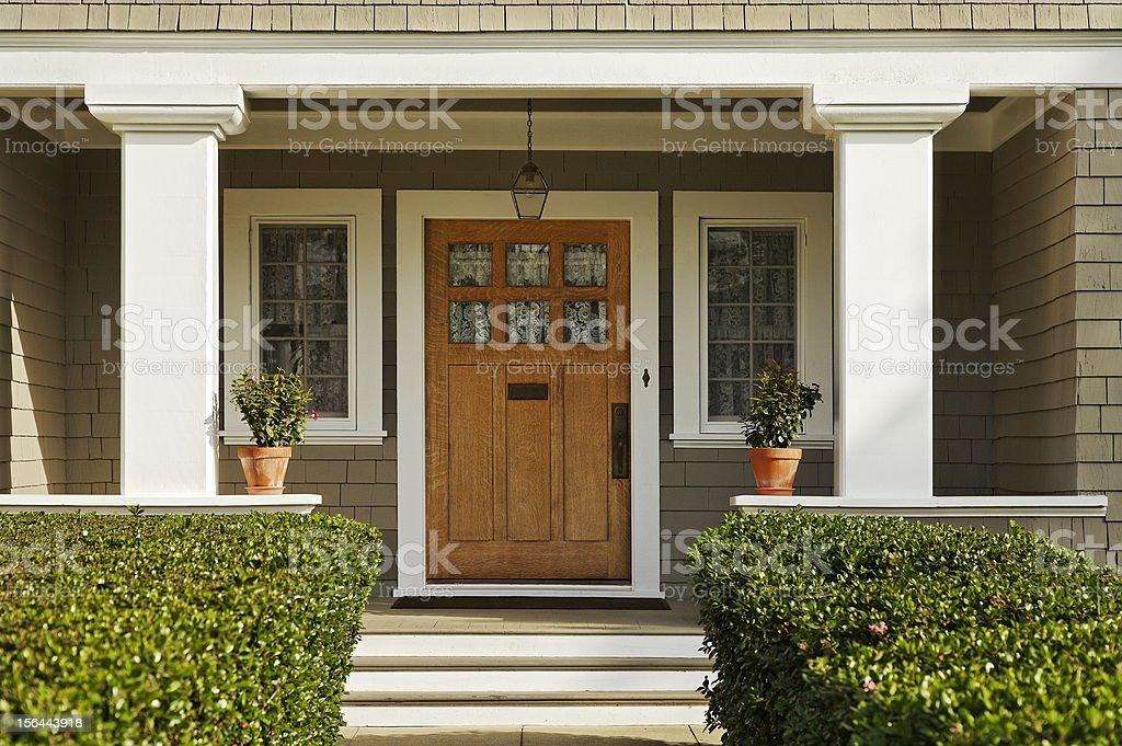 Wooden Front Door royalty-free stock photo