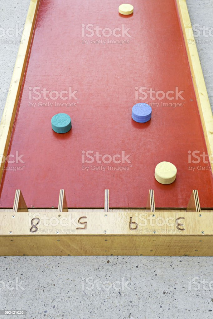 Wooden game stock photo