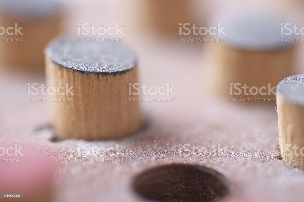 wooden game royalty-free stock photo