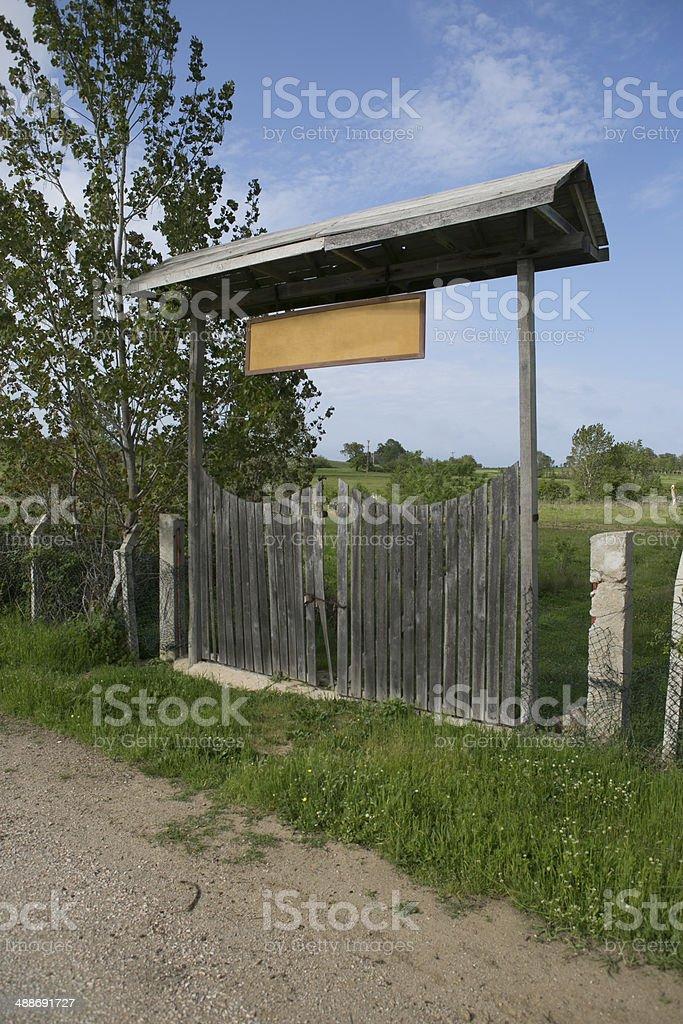 wooden garden gate enterance in turkey stock photo