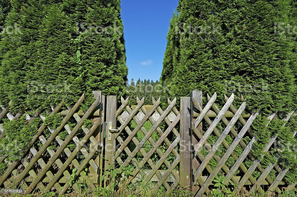 Wooden Gate royalty-free stock photo