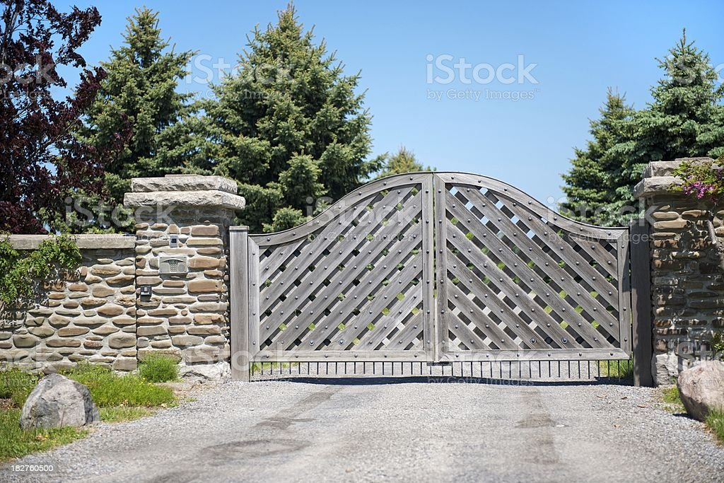 Wooden Gate. stock photo