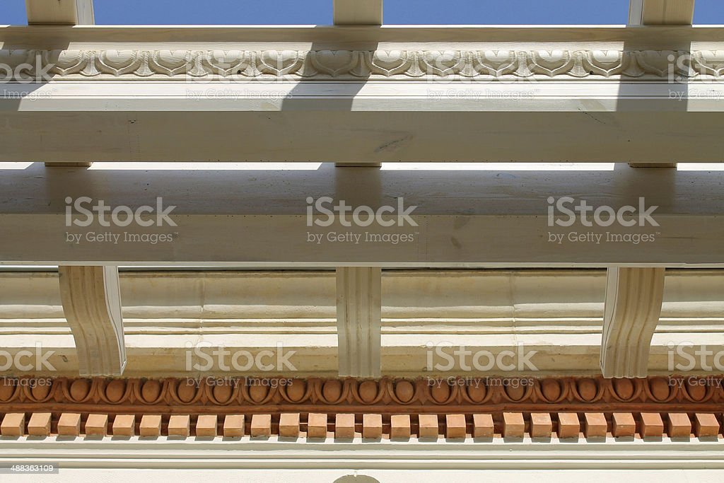 Wooden girders royalty-free stock photo