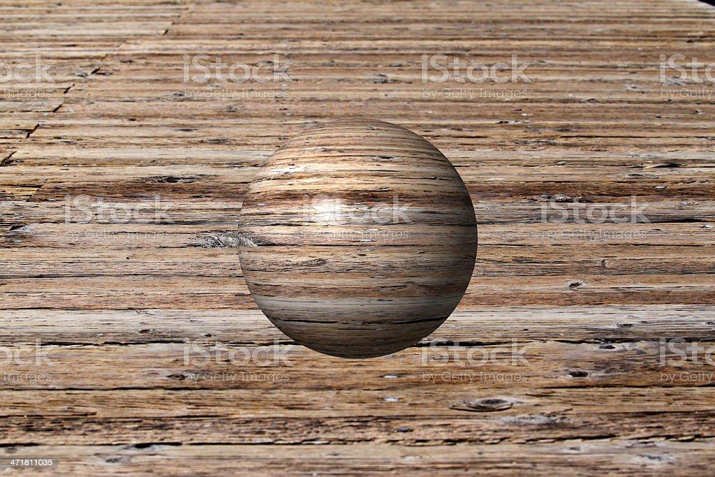 Wooden Globe royalty-free stock photo