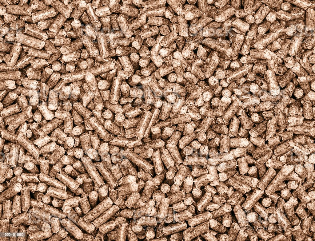 wooden granules stock photo