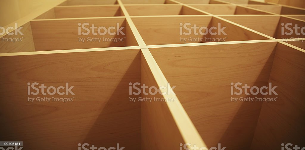 Wooden Grid Abstract stock photo