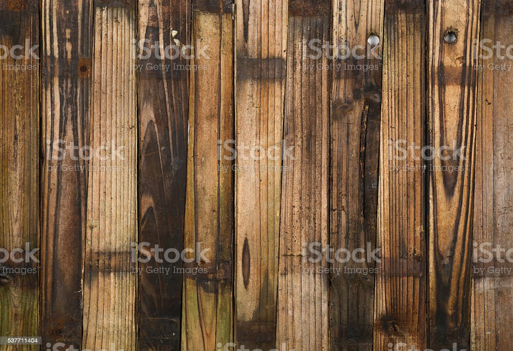 Wooden Half Barrel Garden Planter Planks stock photo