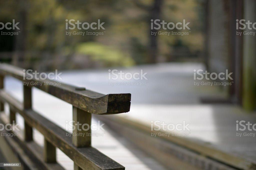 Wooden Handrail stock photo