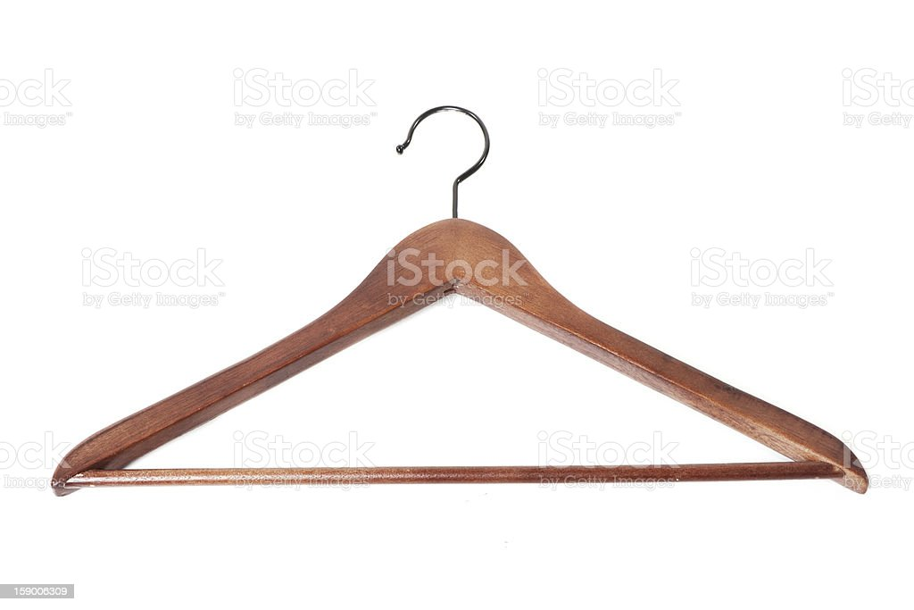Wooden hanger royalty-free stock photo