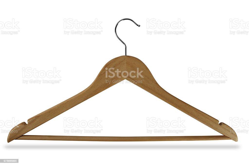 Wooden hanger stock photo