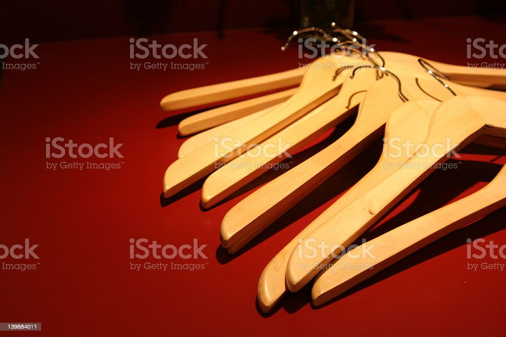 Wooden hangers 3 royalty-free stock photo
