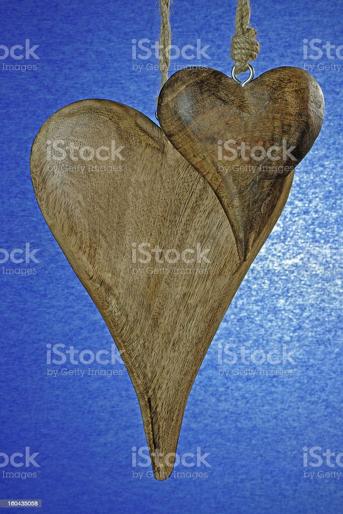 Wooden Hearts royalty-free stock photo
