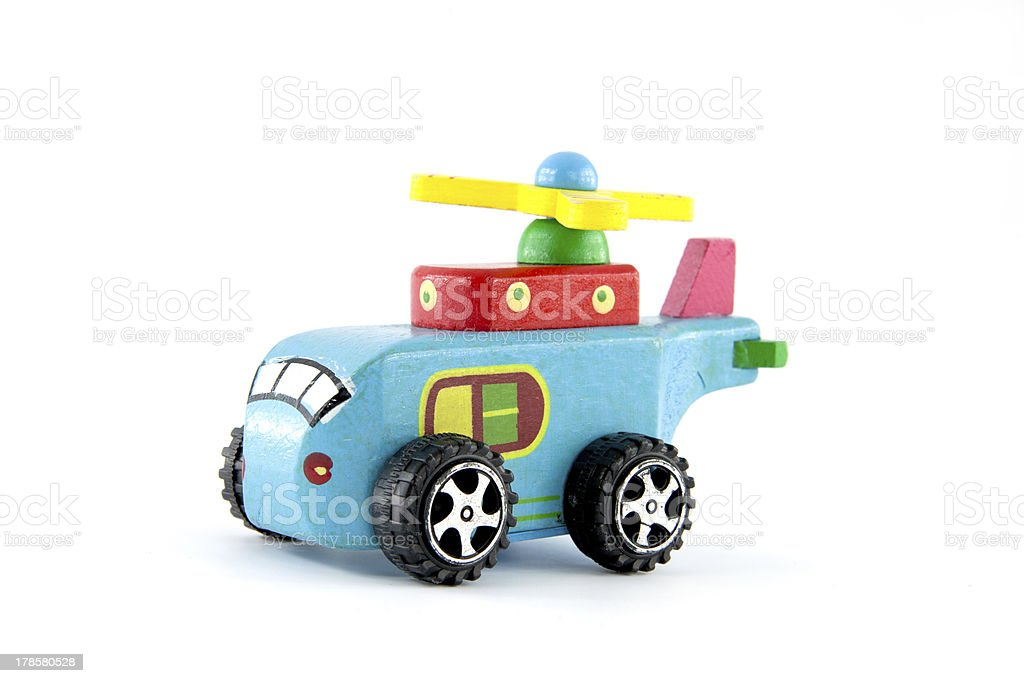 Wooden helicopter toy royalty-free stock photo