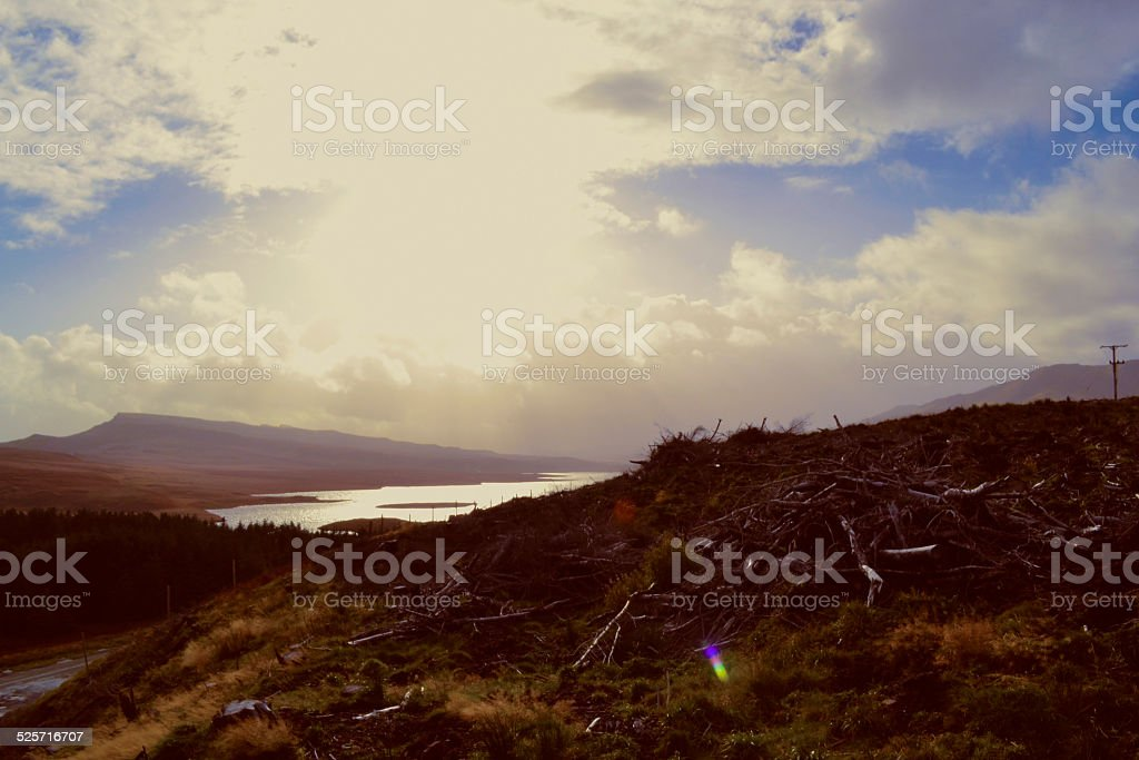 Wooden Hill royalty-free stock photo