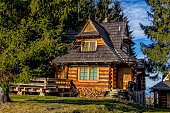 Wooden holiday villa in the Tatra Mountains