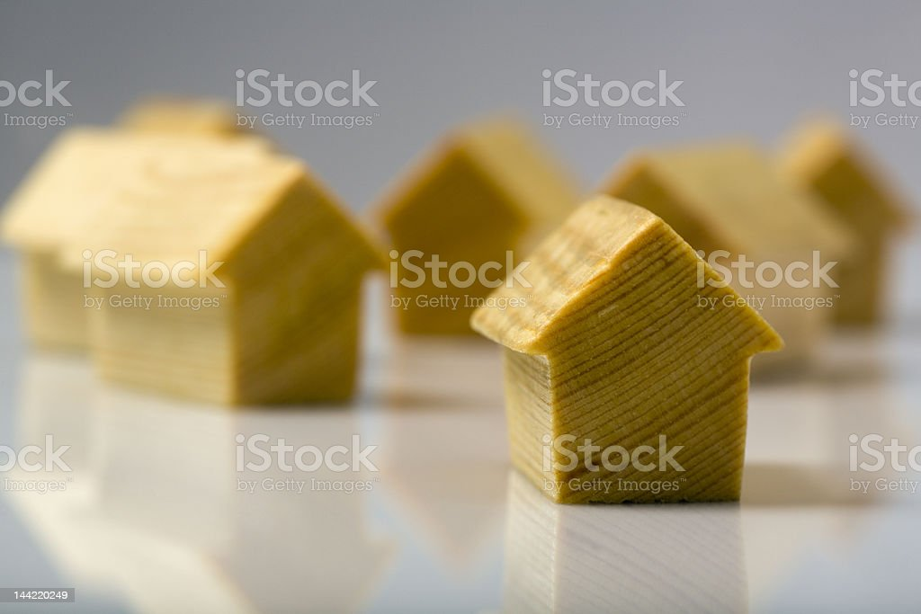 wooden home stock photo